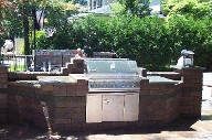 Michigan, Custom BBQ, Interlocking Brick Paver Raised Payio, Retaining Walls, Drainage System