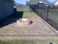 League City, Texas, Fire Pit and Interlocking Patio