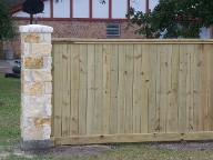 Santa Fe, Texas, Column and Fencing