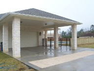 Santa Fe, Texas, Outdoor Kitchen, Travertine Flooring, Veneer Stone, Natural Stone, Fire Place, Walkway and Driveway