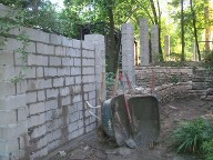 Houston, Texas,  Before Picture for Columns and Fencing