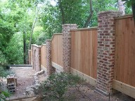 Houston, Texas, After Picture, Columns and Fencing