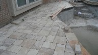 League City Texas Pool Decking Belgard Mega Lafitt Brick Pavers Drainage Retaining Wall Walkway Landscaping Fire Pit