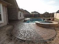 League City Texas Pool Decking Belgard Cambridge Collection 3 Piece Drainage Retaining Wall Walkway Landscaping