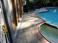 Friendswood Texas Pool Decking Belgard Lafitt Patio Slabs Drainage Landscaping