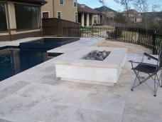 Friendswood Travertine Fire Pit