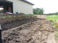 Pearland Texas Retaining Wall Steps Grass Sod Drainage
