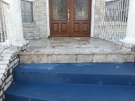 Houston, Texas Retaining Wall, Step System, Travertine, Drainage System, Fire Pit, Fire Place