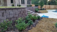Friendswood Texas, Retaining Wall, Step System, Drainage System