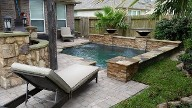 League City Texas Belgard Pool Patio, Retaining Wall, Pergola, Drainage Sustem