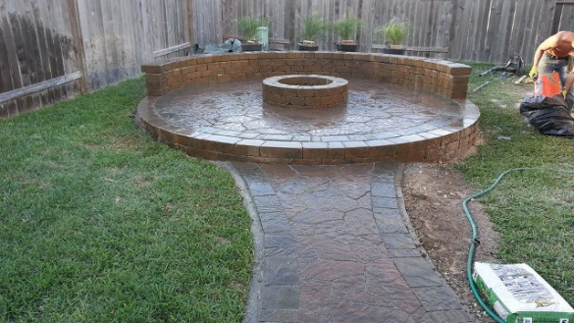 Cypress Texas FirePit, Patio, Retaining Walls, Fountain